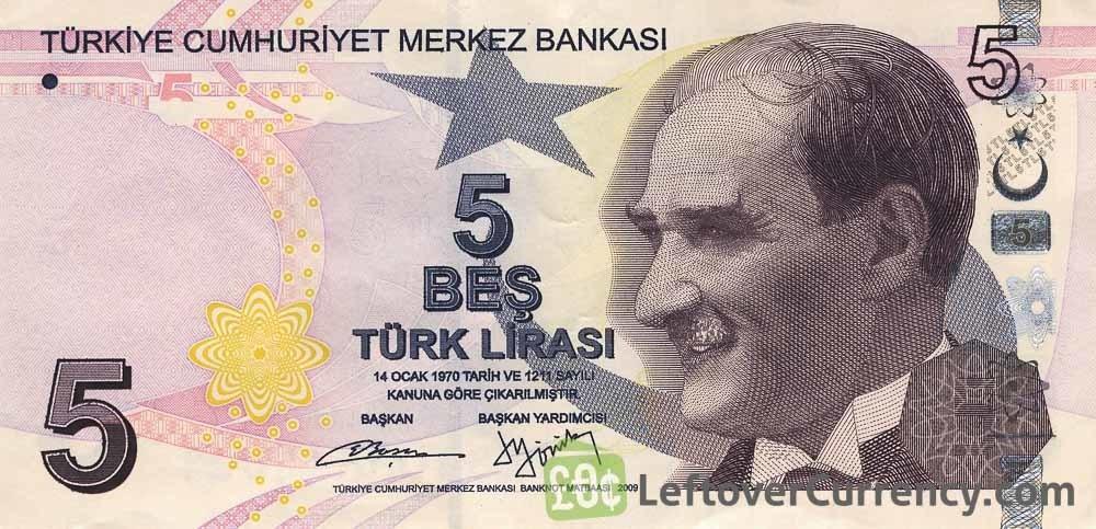 5 لیر ترکیه